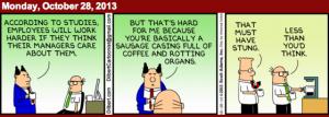 Dilbert saussage